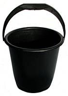 Ведро пластиковое черное (10 л)
