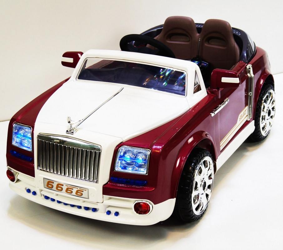 Детский электромобиль Rolls-Royce Ghost 9666: 2x35W, 7 км/ч, MP3 - RED- купить оптом