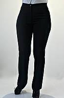 Женские брюки Елена  черного цвета с вышивкой