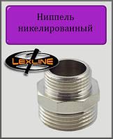 """Ниппель 1/2""""х3/8"""" никелированный"""