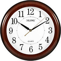 Часы настенные Diling черные цифры