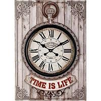 Часы настенные Time is life серые
