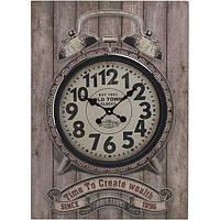 Часы настенные Time is wealth серые