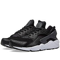 Оригинальные  кроссовки Nike Air Huarache Run Premium Black, Dark Grey