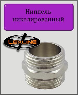 """Ниппель 1/2"""" никелированный"""