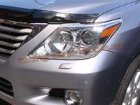 Защита фар Sim для Lexus LX 2012-15 прозрачная
