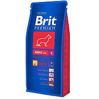 Корм Brit Premium Adult L для взрослых собак крупних пород. Упаковка 15 кг