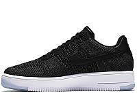 Mужские кроссовки Nike Air Force Flyknit Low Black, фото 1