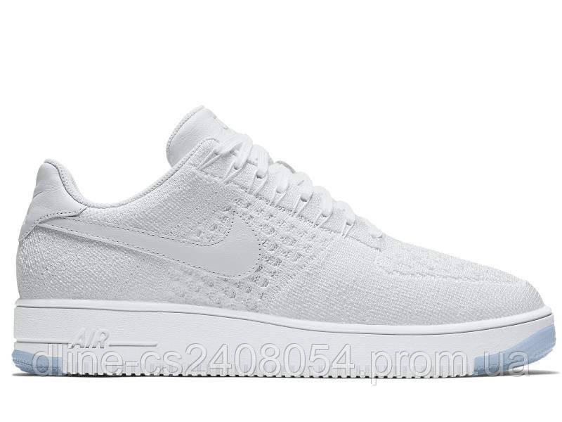 Mужские кроссовки Nike Air Force Flyknit Low White