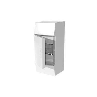 Mistral IP41 шкаф накладной, 4 мод. непроз. дверь, без клемм, 96х210х93 мм