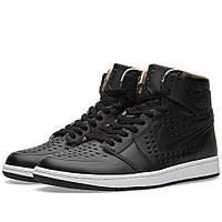 Оригинальные  кроссовки Nike Air Jordan 1 Retro High Black & Vachetta Tan