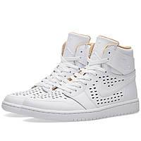 Оригинальные  кроссовки Nike Air Jordan 1 Retro High White & Vachetta Tan