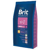 Корм Brit Premium Adult S для взрослых собак маленьких пород. Упаковка 8 кг