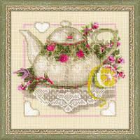 Набор для вышивания крестом «Чай с лимоном» (1477)
