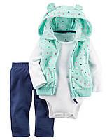 Комплект одежды с флисовой жилеткой Carters