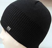 Черная зимняя шапка