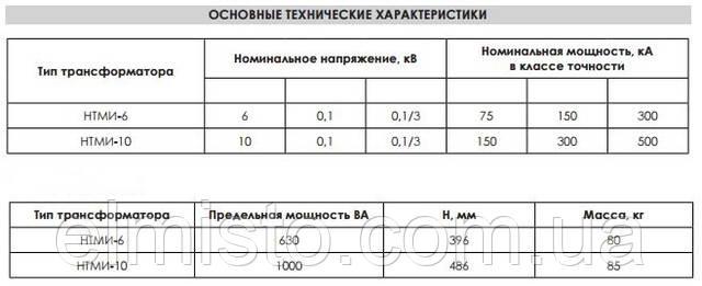 Купить трехфазный масляный измерительный трансформатор напряжения НТМИ-10-У2