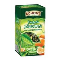 Чай зеленый листовой Big-Active Herbata Zielona с кусочками апельсина 100 г.