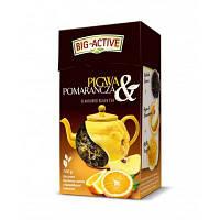 Чай Big Active черный с апельсином и айвой, 100г