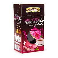Чай Big Active черный с бергамотом и лепестками роз, 100г, фото 1