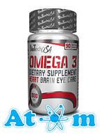 Жирные кислоты - Omega 3 - BioTech - 90 капс