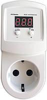 Реле контроля напряжения в розетку УКН-10р, 10А, 1,5 кВт, hselectro