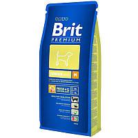 Корм Brit Premium Junior M для щенков и молодых собак средних пород. Упаковка 3 кг