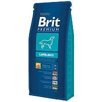 Корм Brit Premium Lamb & Rice с ягенком и рисом для собак всех пород. Упаковка 3 кг