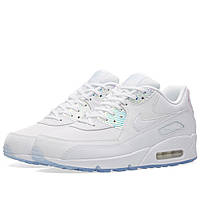 Оригинальные  кроссовки Nike W Air Max 90 Premium White & Blue Tint