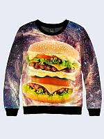 Світшот 3D Космічний бургер / свитшот