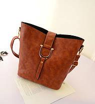 Красивая большая сумка + маленькая сумка/клатч, набор, фото 2