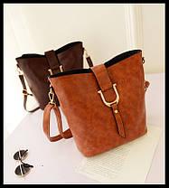 Красивая большая сумка + маленькая сумка/клатч, набор, фото 3
