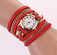 Молодежные женские часы. Красные.