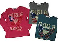 Реглан для девочек, размеры на возраст 4,  10,12  лет, King, арт. WS 12-803