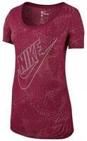 Женская футболка NIKE TEE-BF BURNOUT GLITCH (Артикул: 803993-620)