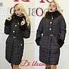 Зимняя женская куртка с мехом мутона