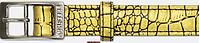 Ошейник 25мм 3 слоя замш+фурн. никель кайман бронза