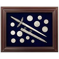 Подарок офицерский кортик и монеты