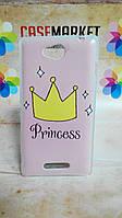 Чехол силиконовый бампер для Sony Xperia S39h C2305 с рисунком Принцесса