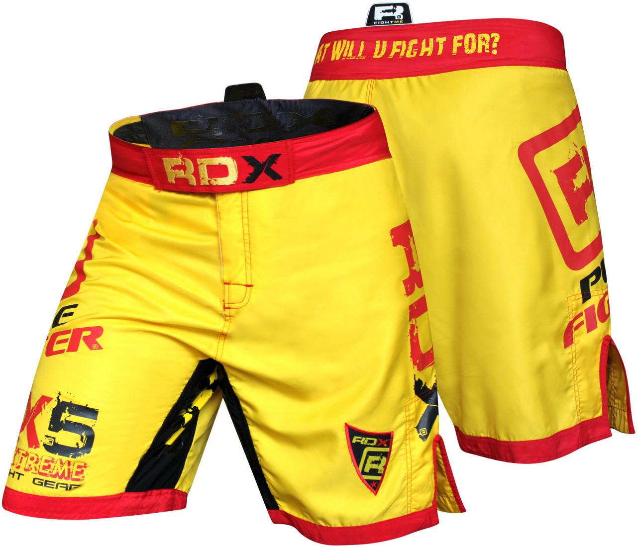 Шорты ММА RDX X5 Yellow S