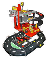Игровой набор ГАРАЖ FERRARI 3 уровня, 2 машинки 1:43 Bburago (18-31204)