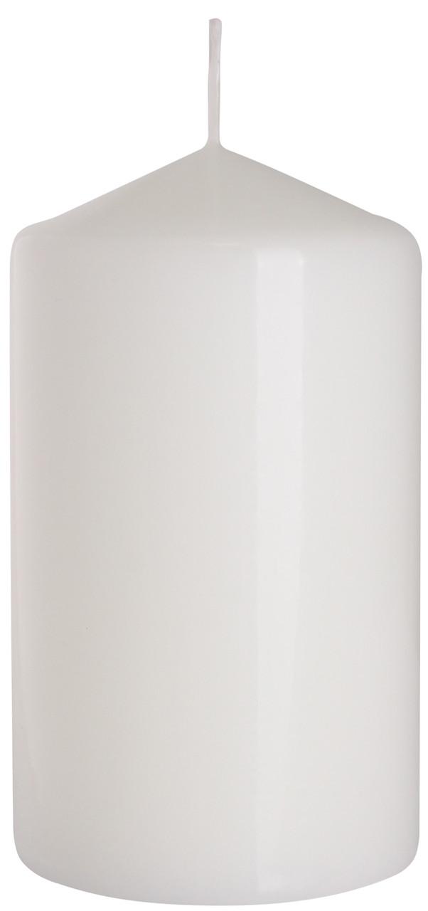Свеча столовая цилиндр BISPOL белая 70 х 150 мм