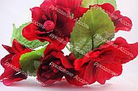 Цветы яблони 4см бордового цвета 1шт/уп
