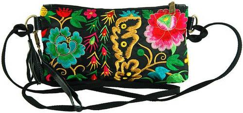 Эффектная женская сумочка из текстиля Traum 7216-10, черный
