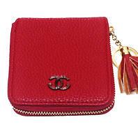Кошелек барсетка Chanel (Шанель) 08-4988 кожзам бордовый