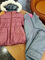 Комбинезон с курткой зимний детский для девочки 104 размеры