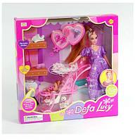 """Кукла беременная с аксессуарами """"Defa Lucy"""", с ребенком и коляской 8049"""