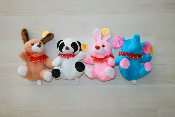 Набор игрушек из 4-х животных (17 см)
