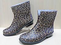 Подростковые резиновые полу сапожки на девочку Леопард тм Литма р.38