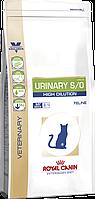 Royal Canin Urinary S/O High Dilution UHD34 для кошек при мочекаменной болезни 1,5 кг